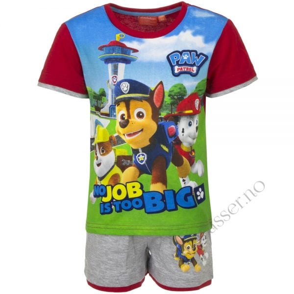 T-skjorte & shorts sett - Paw patrol - No job is too big