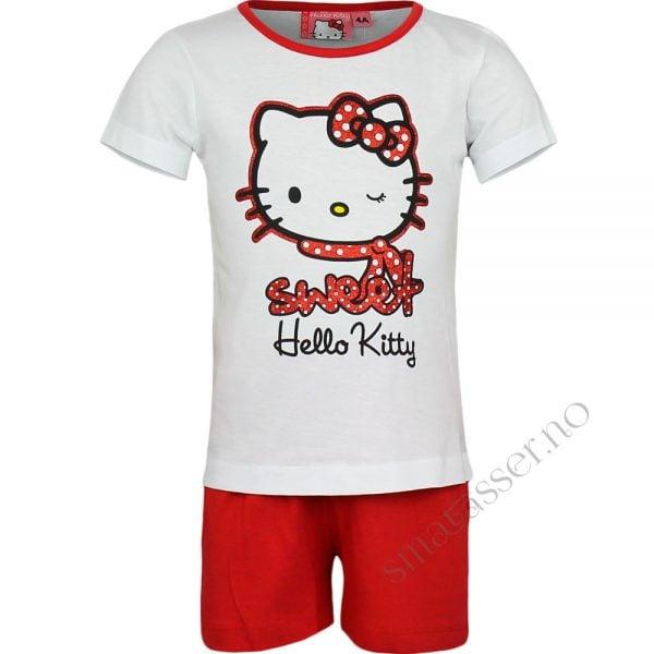 Pysjamas Hello Kitty, kortermet