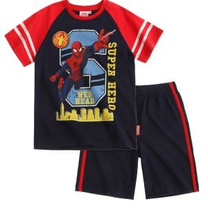 T-skjorte og shorts – Spiderman, Super Hero