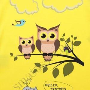 T-skjorte - ugler - Hello, friends