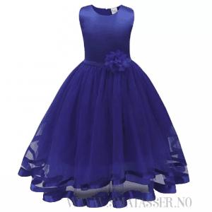 Penkjole - Blomsterpikekjole - Mørkeblå