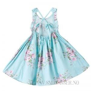 Blomstrete sommerkjole - Blå