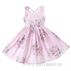 Blomstrete sommerkjole - Rosa