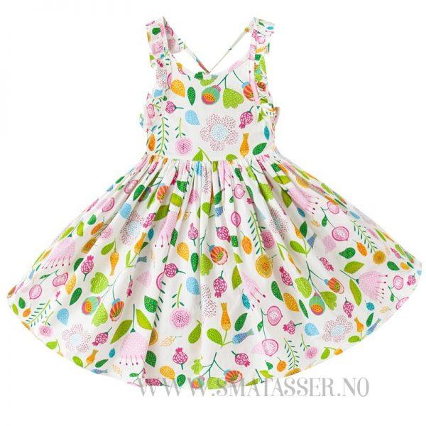 Blomstrete sommerkjole - Hvit