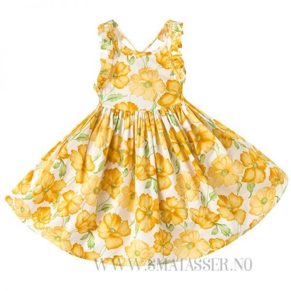 Blomstrete sommerkjole - Gul