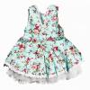 Blomstrete kjole med underskjørt - Blå