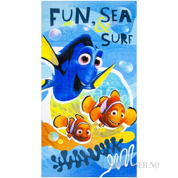 Badehåndkle Finding Dory - Fun, sea, surf
