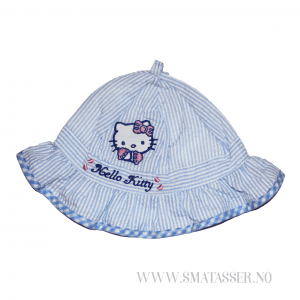 Hello Kitty solhatt - blåstripet