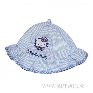 Hello Kitty solhatt - blåstripet