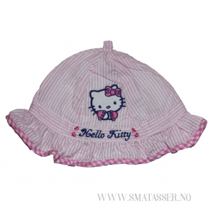 Hello Kitty solhatt - rosastripet