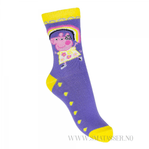 Peppa Gris sokker - Lilla og gul