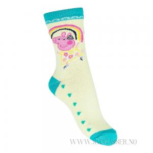 Peppa Gris sokker - Gul/grønn