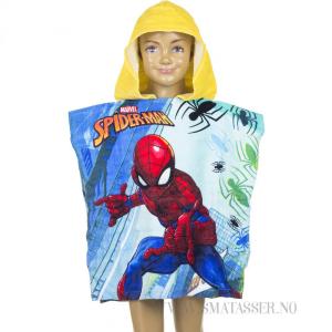 Spiderman badeponcho m/gul hette