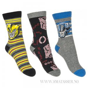 Transformers sokker 3 pakning