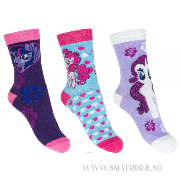 My Little Pony sokker - 3 pakning