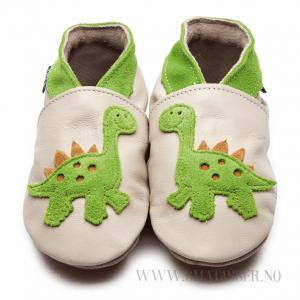 Inch Blue skinntøfler - Dinosaur