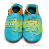 Inch Blue skinntøfler - Krokodille