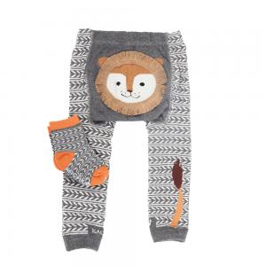 Strømpebukse & matchende sokker - Løve