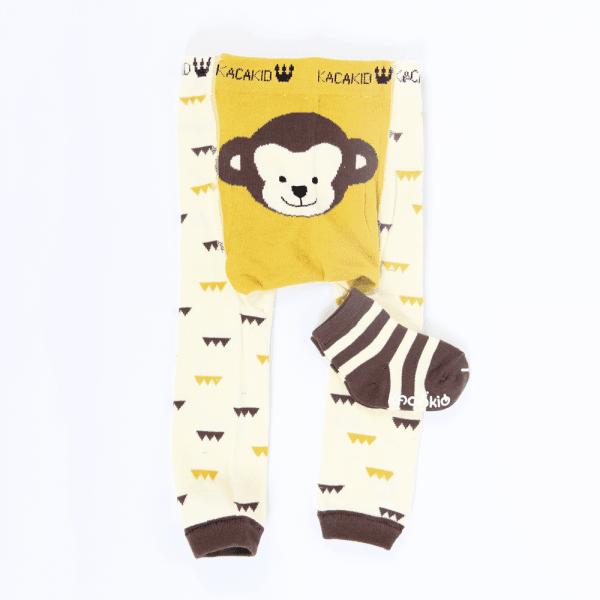 Strømpebukse & matchende sokker - Apekatt