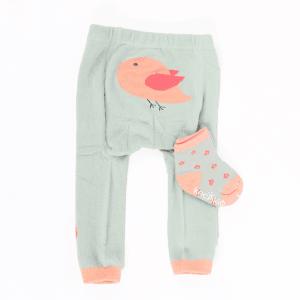 Strømpebukse & matchende sokker - Fugl