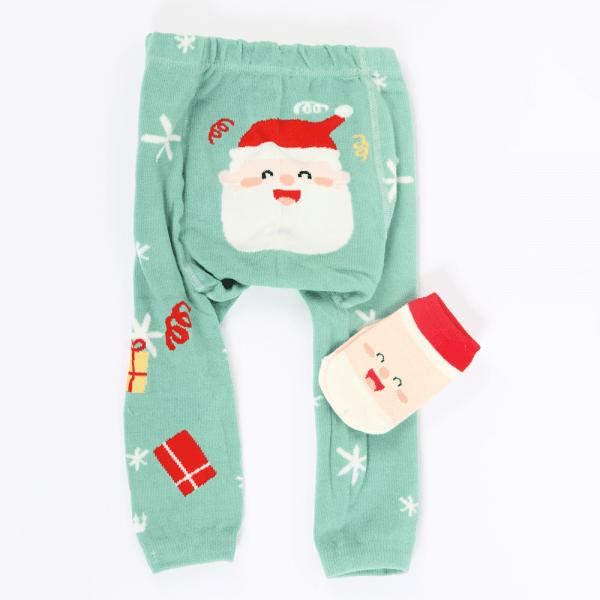 Strømpebukse & matchende sokker - Julenisse