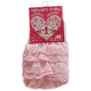 Strømpebukser med blonder, rosa