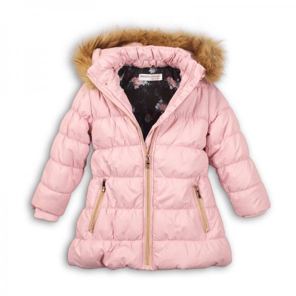 MINOTI Petal jakke med rosa pelskant