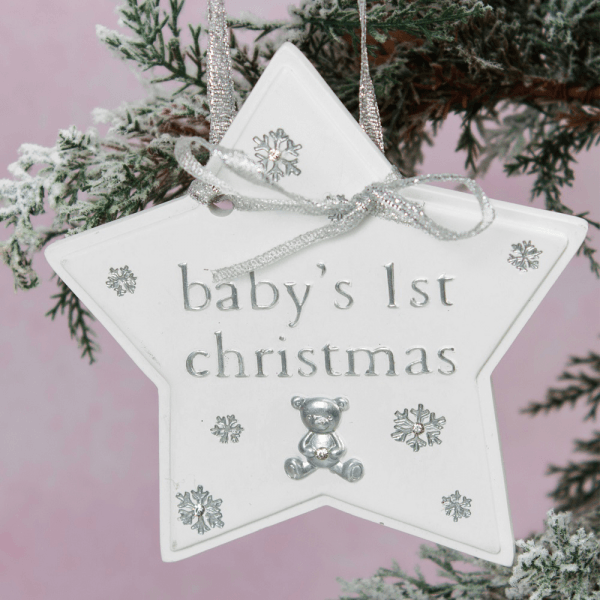 Bambino hengende stjerne - Babys 1st Christmas