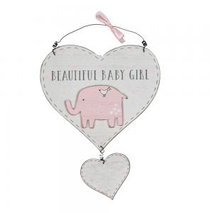Petit Ch##ri hengende skilt - Beautiful Baby Girl
