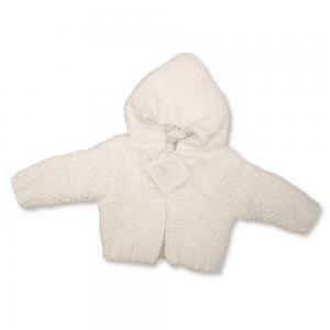 Strikkejakke baby, hvit