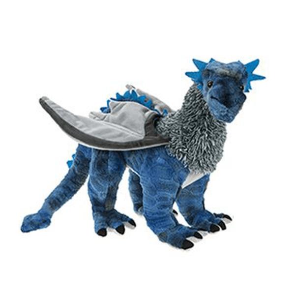 Fantasidrage 48 cm, blå
