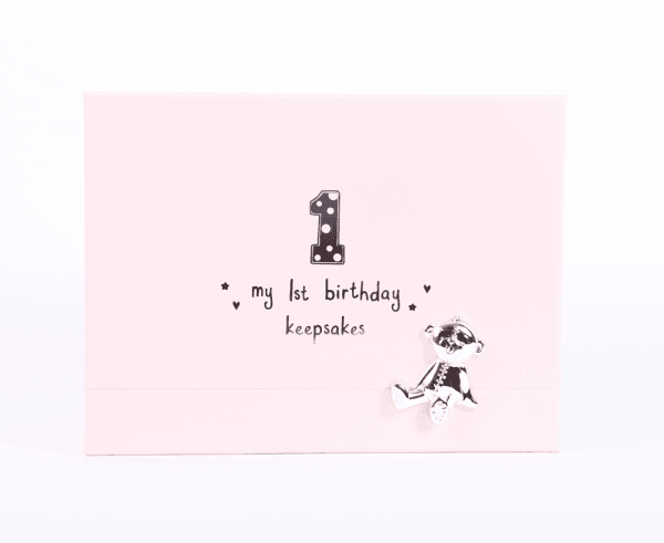 Bambino minneboks til ettårsdagen, rosa