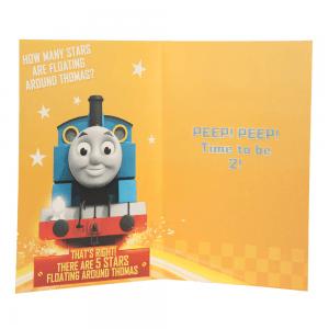 Lokomotivet Thomas bursdagskort 2 år