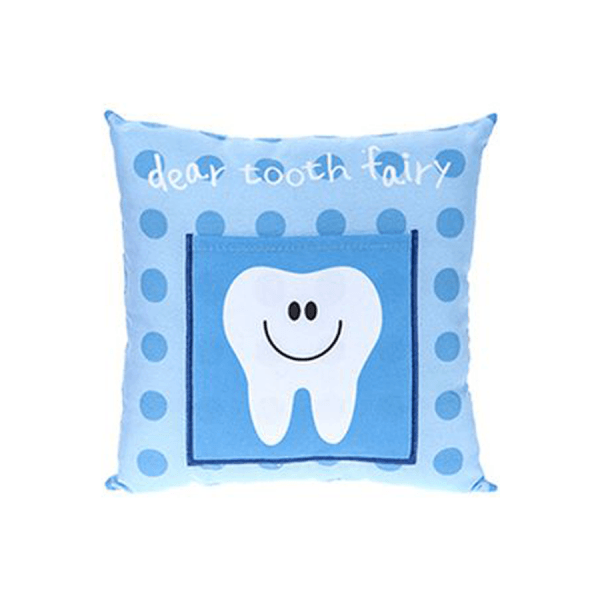 Tooth Fairy, blå pute med lomme til tann
