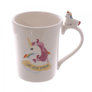 Enhjørning kopp, rosa