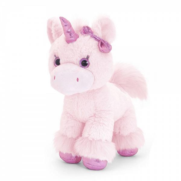 Glitter enhjørning, 30 cm, lys rosa