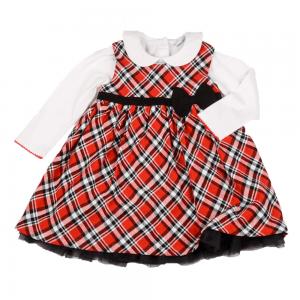 Kjole med bluse/topp, rødrutete