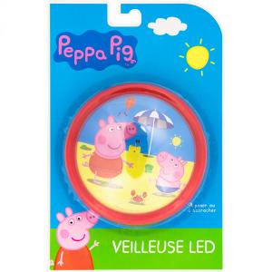Peppa Gris LED presslykt, rød