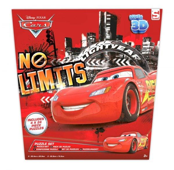 Cars 3D puslespillsett, 4 brett