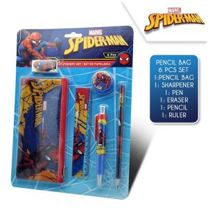 Spiderman skrivesett, 6 deler