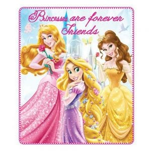Fleeceteppe Disney Prinsesser