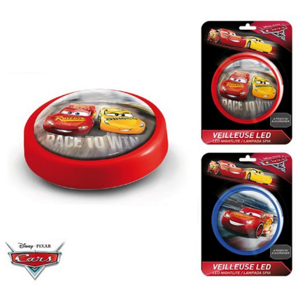 Cars LED nattlampe, rød