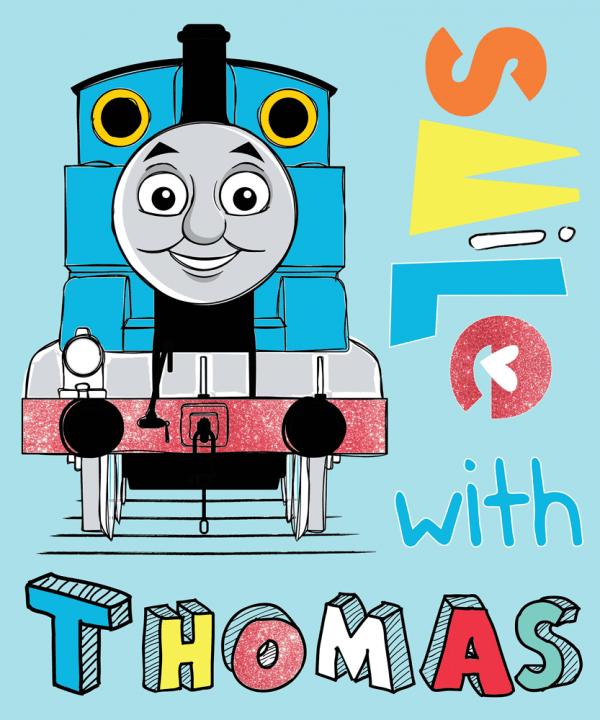 Lokomotivet Thomas fleeceteppe