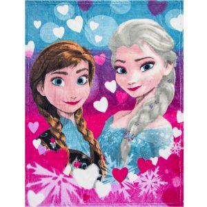 Frozen fleeceteppe, Elsa og Anna