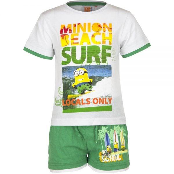 T-skjorte & shorts sett - Minions - Minion beach surf