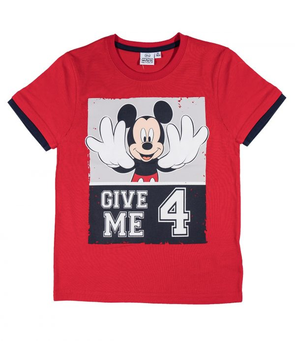 T-Skjorte - Mikke Mus - Give me 4