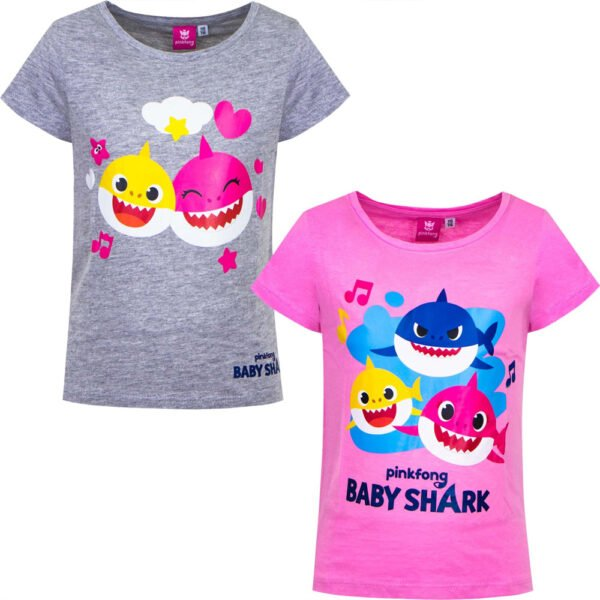 Baby Shark t-skjorte rosa