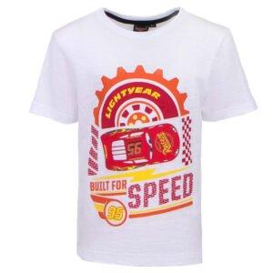 Cars t-skjorte Built for speed hvit