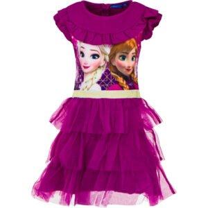 Frosttyll kjole cerise rosa