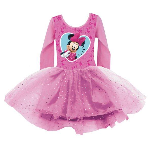 Minni rosa glitterkjole